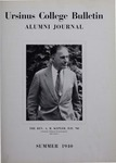 Ursinus College Alumni Journal, Summer 1940 by Donald L. Helfferich, Calvin D. Yost, Stanley Omwake, and Norman E. McClure