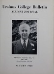 Ursinus College Alumni Journal, Autumn 1940 by Donald L. Helfferich, Calvin D. Yost, Stanley Omwake, and Norman E. McClure
