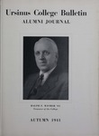 Ursinus College Alumni Journal, Autumn 1941 by Donald L. Helfferich, Charles H. Miller, Stanley Omwake, and Norman E. McClure