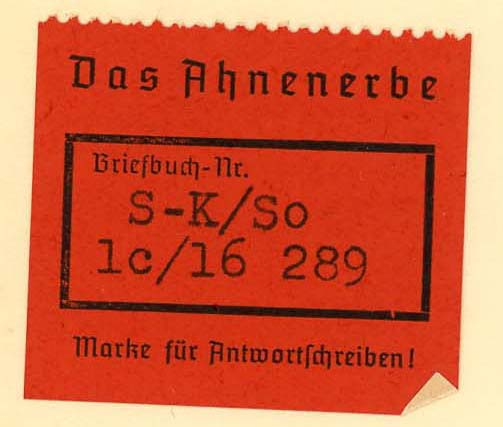 Ahnenerbe: Documents From Nazi Germany, 1936-1945