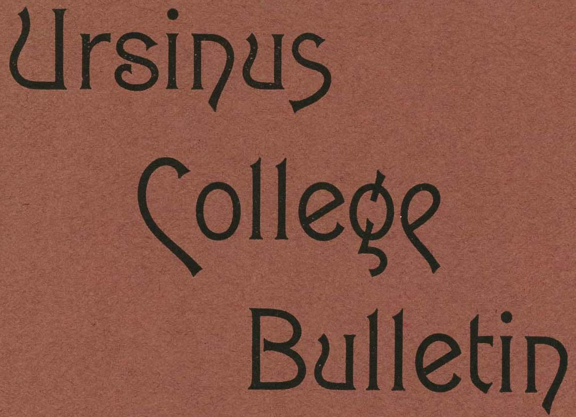 Ursinus College Bulletin