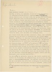 Draft of a Letter from Wolfram Sievers to Rudolf Mentzel, with Corrections, Undated