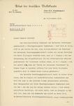 Letter from Heinrich Harmjanz to Wolfram Sievers, November 17, 1938