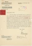 Letter from Rudolf Mentzel to Walther Wüst, November 30, 1938