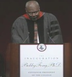 Charles Rice Speaking at the Inauguration of Dr. Bobby Fong 2012 by College Communications
