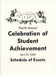 Ursinus College Celebration of Student Achievement (CoSA) Schedule of Events, 2009