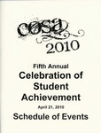 Ursinus College Celebration of Student Achievement (CoSA) Schedule of Events, 2010 by Office of Academic Affairs