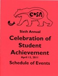 Ursinus College Celebration of Student Achievement (CoSA) Schedule of Events, 2011 by Office of Academic Affairs