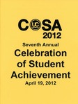 Ursinus College Celebration of Student Achievement (CoSA) Schedule of Events, 2012 by Office of Academic Affairs