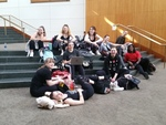 ACDA Dance Program Students Relaxing Between Classes