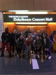 ACDA Dance Students in Front of Dekelboum Concert Hall at the University of Maryland