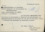 Letter from Josef Wimmer to Wolfram Sievers, November 1, 1940 by Josef Wimmer