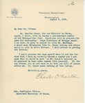 Letter From Charles D. Norton to Francis Mairs Huntington-Wilson, August 4, 1909