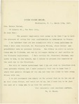 Letter From William E. Mason to Horace Porter, March 10, 1897