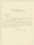 Letter From Robert R. Hitt to Horace Porter, March 12, 1897