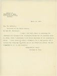 Letter From Ferdinand W. Peck to William McKinley, March 13, 1897