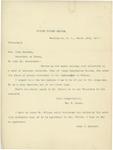 Letter From William E. Mason and John C. Spooner to John Sherman, March 18, 1897 by John C. Spooner and William Ernest Mason