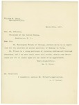 Letter From William W. Tracy and A. J. Lester to William McKinley, March 20, 1897