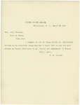 Letter From Shelby M. Cullom to John Sherman, March 22, 1897