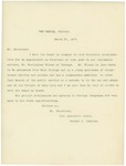 Letter From Robert T. Lincoln to William McKinley, March 27, 1897