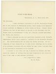 Letter From William E. Mason to William McKinley, March 29, 1897