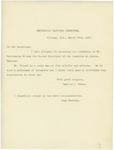 Letter From Charles G. Dawes and John McNulta to William McKinley, March 30, 1897 by Charles G. Dawes and John McNulta