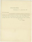 Letter From Mark A. Hanna to William McKinley, April 2, 1897