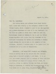 Letter From Francis Mairs Huntington-Wilson to Philander C. Knox, August 12, 1910