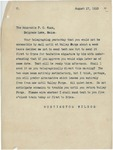 Letter From Francis Mairs Huntington-Wilson to Philander C. Knox, August 17, 1910 by Francis Mairs Huntington-Wilson