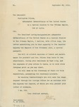 Letter From Philander C. Knox to Francis Mairs Huntington-Wilson, September 30, 1910