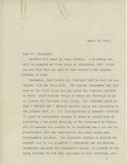 Letter From Francis Mairs Huntington-Wilson to Philander C. Knox, March 10, 1911 by Francis Mairs Huntington-Wilson