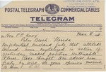Telegram From Lucy Wortham James to Philander C. Knox, March 8, 1911 by Lucy Wortham James