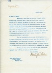Letter From Francis Mairs Huntington-Wilson to James Speyer, June 21, 1909
