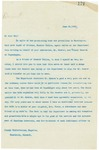 Letter From Francis Mairs Huntington-Wilson to Joseph Winterbottom, June 28, 1909