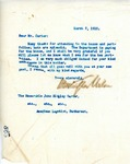 Letter From Francis Mairs Huntington-Wilson to John Ridgley Carter, March 7, 1910