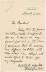 Letter From Francis Mairs Huntington-Wilson to William Howard Taft, March 7, 1911