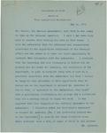 Memorandum on an Introductory Meeting Between Manuel Calero y Sierra and Chandler Anderson, May 14, 1912 by Francis Mairs Huntington-Wilson