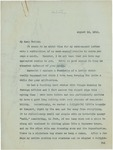 Letter From Francis Mairs Huntington-Wilson to Benjamin Mairs Wilson, August 15, 1912
