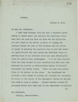 Letter From Francis Mairs Huntington-Wilson to William Howard Taft, October 2, 1912