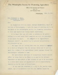 Letter From J. Lippincott to Philander C. Knox, February 11, 1913