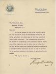 Letter From Rudolph Blankenburg to Philander C. Knox, February 11, 1913 by Rudolph Blankenburg