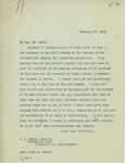 Letter From Francis Mairs Huntington-Wilson to Clarence Sears Kates, February 27, 1913