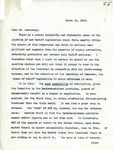 Letter From Francis Mairs Huntington Wilson to William Jennings Bryan, March 14, 1913 by Francis Mairs Huntington-Wilson
