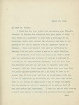 Letter From William Jennings Bryan to Francis Mairs Huntington-Wilson, March 16, 1913 by William Jennings Bryan