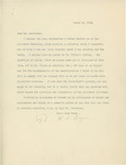 Letter From William Jennings Bryan to Woodrow Wilson, March 16, 1913