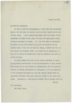 Letter From Francis Mairs Huntington-Wilson to Woodrow Wilson, March 19, 1913 by Francis Mairs Huntington-Wilson