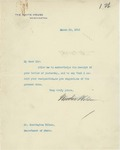 Letter From Woodrow Wilson to Francis Mairs Huntington-Wilson, March 20, 1913 by Woodrow Wilson