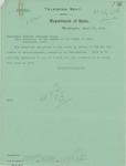 Telegram From Francis Mairs Huntington-Wilson to William Jennings Bryan, March 20, 1913 by Francis Mairs Huntington-Wilson