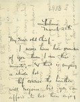 Letter From Hugh S. Gibson to Francis Mairs Huntington Wilson, March 25, 1913 by Hugh Gibson