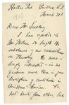 Letter From William Bayard Hale to Francis Mairs Huntington-Wilson, March 2, 1913